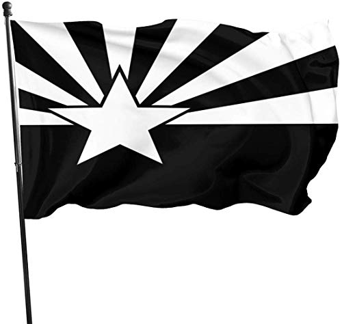 Patry Flag, Arizona Flag Black and White Flags Durable House Flag Fade Resistant Outdoor Banner Quality Yard Holiday and Seasonal Decorative Flags for College Weekend Sports 2020-3X 5 Ft
