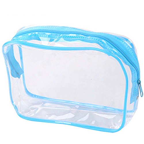 Ensemble de 4 PVC transparent étanche Pouch Cosmetic Bag Wash Bag