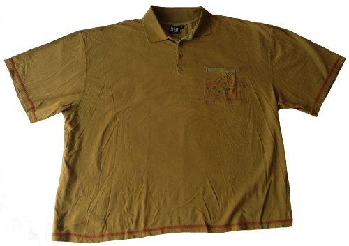 Herren Polo-Shirt in Übergröße mit Knopfleiste Grün