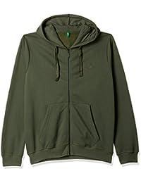 United Colors of Benetton Men's Cotton Sweatshirt (17A3S44J8002I903XL_Green_XL)