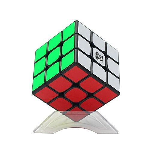 Dingze Neue MoYu Weilong GTS2 3x3x3 Würfel Geschwindigkeit Puzzle glattdrehen Magic Cube Schwarz + Eine Cube Bag