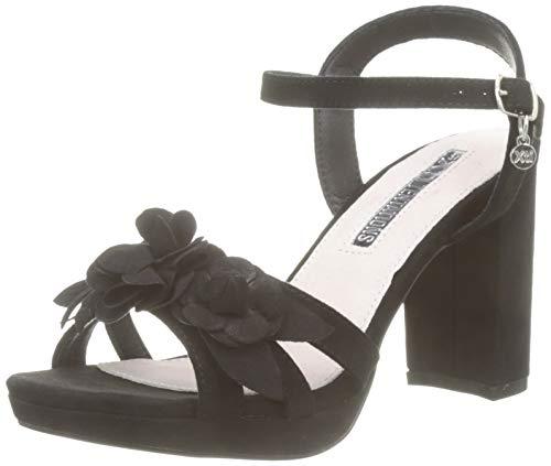 XTI 35044, Scarpe col Tacco con Cinturino Dietro la Caviglia Donna, Nero Negro, 38 EU