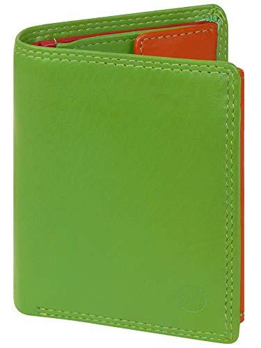 HC Damen kleine Bunte Börse in Multicolor mit RFID Schutz, Farben:apfelgrün