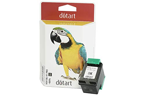 Recycled / Rebuilt by dotart Recycled ink cartridge for HP (equivalent to CH563EE No. 301 XL, HP No.301 XL, HP 301 XL), Black