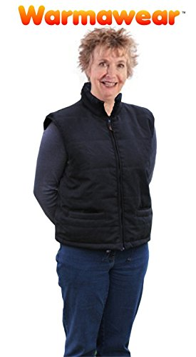 Warmawear beheizbare weste mit gepolstertem Kragen, Schwarz (Mitte / Groß) - 2