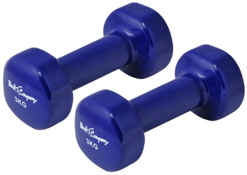 Vinyl Gymnastik Hanteln Hantel Gewichte - Frei wählbare Gewichtsabstufungen, 2 x 3,0Kg Gymnastikhantel Blau