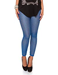 24brands Damen Netz Leggings im raffiniertem Look (2144)