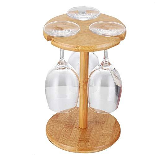 CZWYF Weinglashalter 100% Naturbambus Weinflaschenhalter Handgefertigte Arbeitsplatte Weinregal 3/6 Weinglas Arbeitsplatte Lagerung (Size : M)
