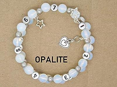 Bracelet d'allaitement Personnalisable Opalite Cadeau Naissance Future Maman