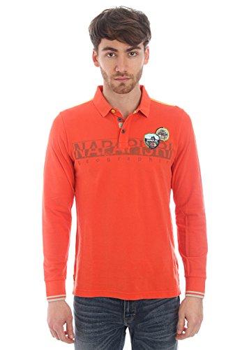 Napapijri-Polo in cotone piquet con inserti decorativi - rosso-Male-4794674