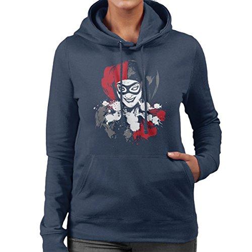 Suicide Squad Sweet Crazy Girl Harley Quinn Women's Hooded Sweatshirt Navy Blue
