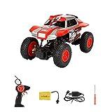 Lazzgirl 1:20 2,4G Hochgeschwindigkeits-RC-Rennwagen-Fernsteuerungs-LKW-Off-Road-Buggy-Spielzeug(Rot,Abs)