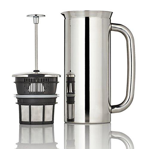 ESPRO French Press P7, Kaffee Stempelkanne mit Thermofunktion, Coffee-Maker, Kaffeezubereiter, Edelstahl poliert, 550 ml
