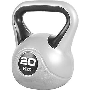 GORILLA SPORTS Kettlebell Stylish 2-20 kg Kunststoff Einzeln/Set – Fitness-Kugelhantel in 12 Gewichtsvarianten