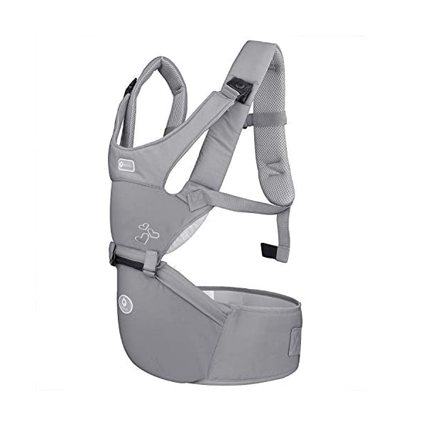 "BeeViuc Baby Carrier Hip Seat Classical Desgined Baby Carrier Backpack for 0-36months -Gray BeeViuc Ultimate Comfort For Baby - The Baby Carrier is Used Soft Classical Cotton With Polyester Touching. Suit For Baby Who is Between 3-36 Months and 0-20 KG. Ultimate Comfort For Parents - An adjustable Velcro Waist Strap That Puts Some Of The Weight On Your Hips. Ultra Extand And Soft Padded Shoulder Straps For The Best Comfortable For All Parents. Baby Hip Healthy - Enable Your Baby To Be Seated in An Optimal Natural ""M Shape"" Position From Newborn To Toddler. The Carrier Has Been Acknowledged As a ""Hip-Healthy"" Product By The International Hip Dysplasia Institute. 3"
