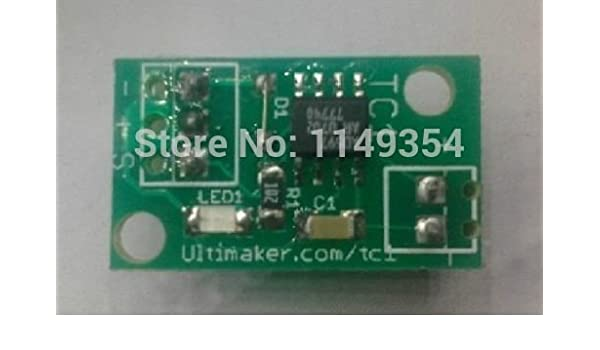 Ultimaker TC1 Temperature control PCB thermocouple signal amplifier AD597