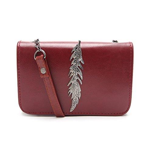 Dairyshop Sacchetto di spalla delle donne di modo borsa della borsa della bors (Vino Rosso) Vino Rosso