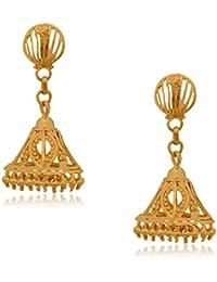 Senco Gold Aura Collection 22k Yellow Gold Jhumki Earrings