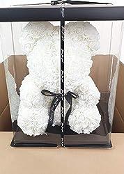 Blumenhandel Nadir Gezer künstliche Rosenbären 40cm inklusive Geschenkbox - Rose Bear with 40 cm incl. giftbox