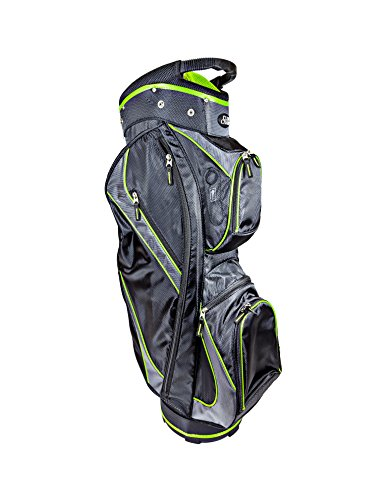 Club Champ Deluxe Cart Golf Bag, Black/Green -
