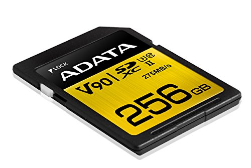 Cheapest ADATA ASDX256GUII3CL10-C Premier ONE SDXC UHS-II U3 Class10 V90 3D NAND Extreme 4K Ultra HD 290MB/s SD Card, 256 GB Reviews