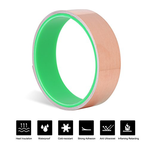 Kungfu Mall Copper Foil Tape 3mmx50m Conductive Adhesive Conductive Shielded Tape
