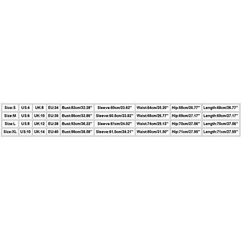 FIRSS-BH Damen Bodysuit Langarm Elegant Strampler Basic Bodys Overalls Schulterfrei Playsuit Tops Rompers Sexy Jumpsuit Unterziehshirt Langarmshirt Babydoll Nachtwäsche L - 6