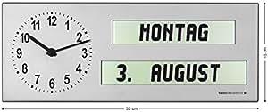Seniorenuhr/analogique-numérique avec horloge aMC 26 ausgeschriebenem jour de la semaine et de l'heure