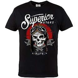 Rule Out Moto Camiseta Superior Motores. Movilidad Club Ropa Motera. Motorcycling. Moto Camiseta Ocasional - Negro, XX-Large