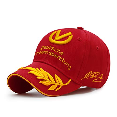 shunlidas Hüte Dekorationen Fischerhutherrenhut Sommermode Baseball Cap Duck Zunge Racing Cap, Verstellbarer Kopfumfang Für 56-60Cm, Gules -