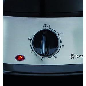 Russell Hobbs Vaporiera, 3 Vaschette BPA Free, Nero e Acciaio - 2021 -