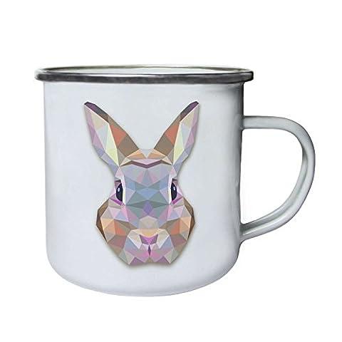 Origami Bunny Water Colours Novelty Retro,Tin, Enamel 10oz Mug o58e
