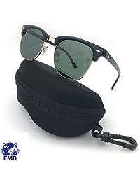 EMD Gafas de sol polarizadas, diseño vintage, estilo Clubmaster, unisex, protección UV