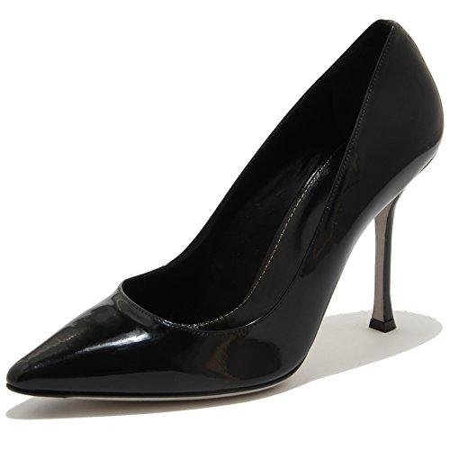 80705 decollete SERGIO ROSSI SOFT NERO PELLE VITELLO VERNICE scarpa donna shoes [40]
