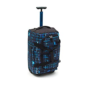 Quiksilver Wheeled Holdall Luggage - Giantness Medium 34L Plain Black Blue