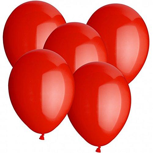 100 Luftballons Ø 30 cm Farbe frei wählbar Ballons Helium Luftballon (Rot) (Stück 100 Luftballons)
