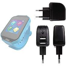 DURAGADGET Cargador con Enchufe Europeo para Reloj de niño CEFATRONIC - Smartwatch Clan (105)