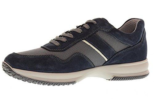 Enval soft 12102 Blu Scarpa Uomo Sneaker Pelle e Tessuto Made In Italy