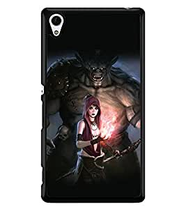PRINTSWAG GIRL AND BEAST Designer Back Cover Case for SONY XPERIA Z4