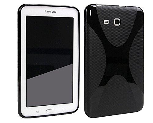 cover silicone tablet 7 pollici Borse per Samsung Galaxy Tab A SM-T280 7.0 Pollice Smart Slim Case Book Cover Stand Flip SM-T285 (Nero) NUOVO