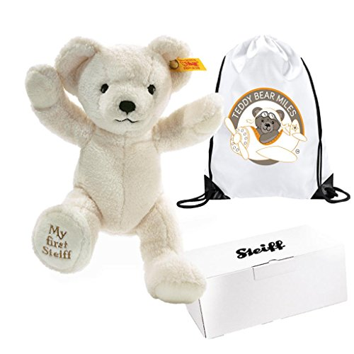 Price comparison product image Best Selling Authentic Steiff My First Cream/White Bear 24 cm and Reusable Gift Bag - Extra Special Little Bear - Infants Newborn New Arrival Baby Boy Boys Girl Girls Kids Children Child Toddler My First Birthday Gift Present Idea - Suitable From Birth