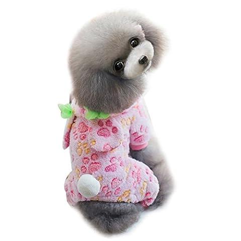 Loveso-Huastier Hunde Kleider Bekleidung Kleiner Hund-Katze-Welpen-Haustier Dickes Karotte Kaninchen mit Kapuze Pyjamas Overall (S, (Männliche Kaninchen-kostüm)