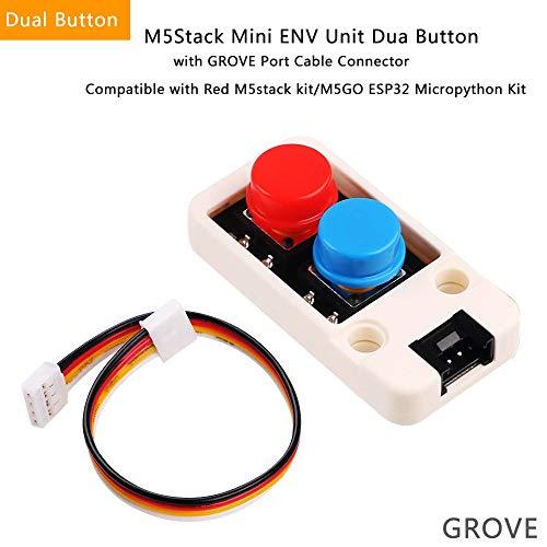 Makerhawk M5Stack Mini ENV Einheit Dua Knopf mit DHT12 BMP280 Digital DHT-12 Temperatur Luftfeuchtigkeit Luftdrucksensor I2C Grove Stecker für M5GO und Red M5kit