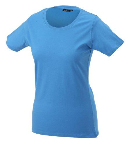 JAMES & NICHOLSON T-shirt Basic - T-shirt de Maternité - Femme Bleu (aqua)