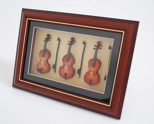 Cherrystone 4260180889659 Miniatur Musikinstrument Bilderrahmen Violine (FVBC)