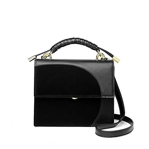 wangkk Handtasche Handtaschen Wilde Umhängetasche Exquisite Nähen Messenger Bag Handytasche Geldbörse, Schwarz