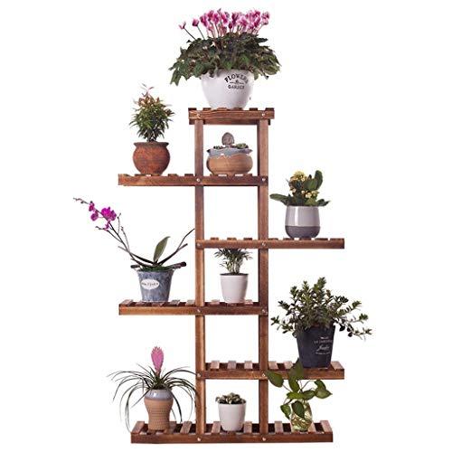 luludp cremagliere pianta espositore per piante a più strati espositore per piante per piante rampicanti supporto per piante grasse in vaso fiori erbe supporto per fiori ripiani in legno 29.5x9.8x43.3