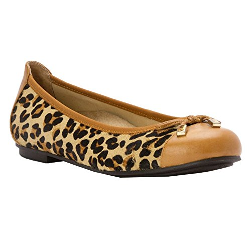 Vionic Womens Spark Minna Leather Sandals Tan Leopard