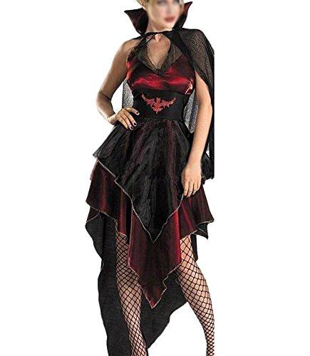 Damen Kostüm Für Karneval Halloween Zombie Braut Vampir Kostüm Kleid Schwarz2 S