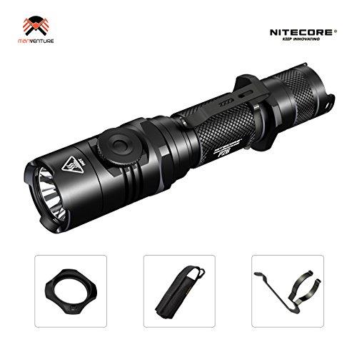 Militärische Hochleistungs-LED-Taschenlampe - NITECORE® P26 Professional Tactical - Autonomy 500h Reichweite 310 m IPX8 mit stufenlos einstellbarer Intensität und Blitz für den Notfall [OHNE wiederaufladbare Batterie]